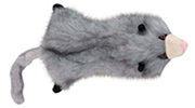 Grriggles Opossum - Unstuffed Plush Tug, Throw, Retrieve Toy