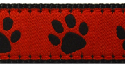 Up Country Red Black Paw Collar
