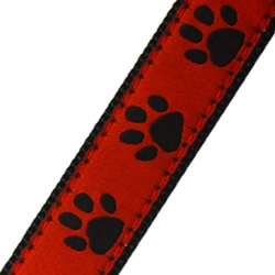 Up Country Red & Black Paw Collar
