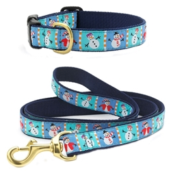Up Country Snowman Leash & Collar (No Holes) Bundle