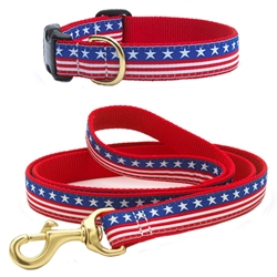 Up Country Stars and Stripes Leash & Collar (No Holes) Bundle