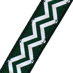 Up Country Green and White Chevron Collar