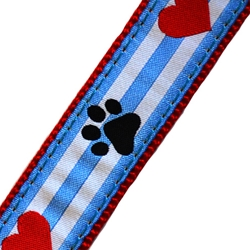 Up Country Pawprint Stripe MicroLite® Collar
