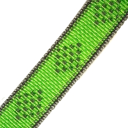 Lupine Reflective Green Diamond MicroLite® Collar