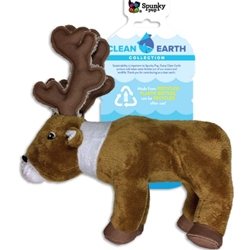 Clean Earth Plush Caribou Dog Toy