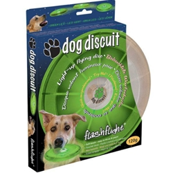 Light Up Dog Discuit - Flying Disc for Dogs - Brightly Lit for Night Exercise - Made by Nite Ize
