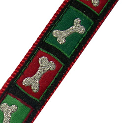 Up Country Christmas Bones Dog Collar - Holiday Dog Collars - Canine Company