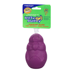 Busy Buddy Small Squirrel Dude - Rugged Chew, Throw, Treat Toy