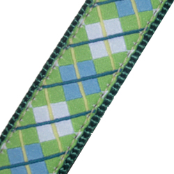 Up Country Blue and Green Argyle Collar