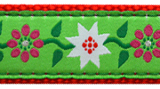 Up County Poinsettia Collar