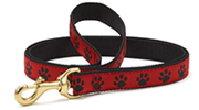 Up Country Red & Black Paw Lead