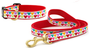 Up Country Pop Hearts Leash & Collar (No Holes) Bundle