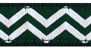 Up Country Green White Chevron Collar