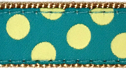 Up Country Teal Yellow Dot Collar