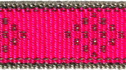Lupine Reflective Pink Diamond MicroLite® Collar- Prepunched