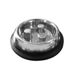 Stainless Steel Slow Feed Bowl - Non-Tip