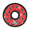 Tuffy Pet Toys Jr Ring – Red Paw Print